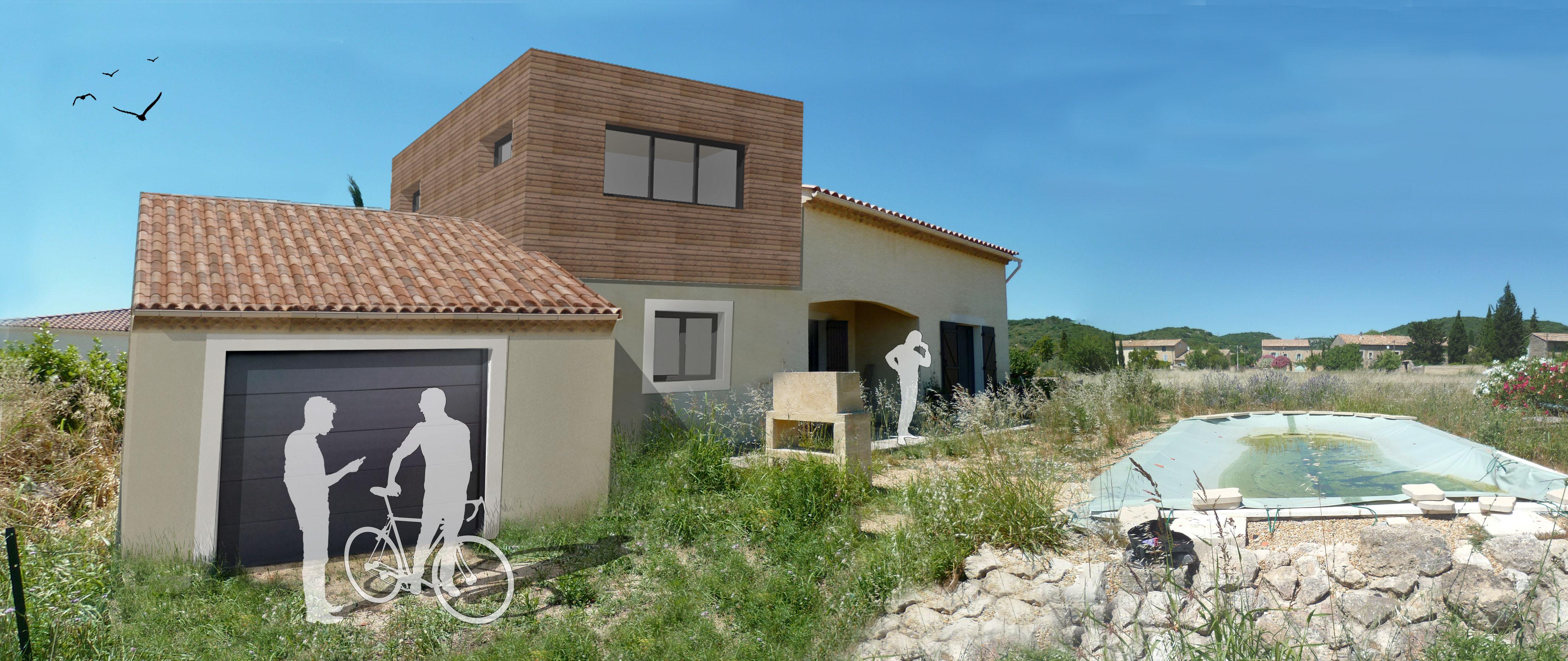 Maison D : rénovation après sinistre par l'agence Brayer-Hugon à Nîmes