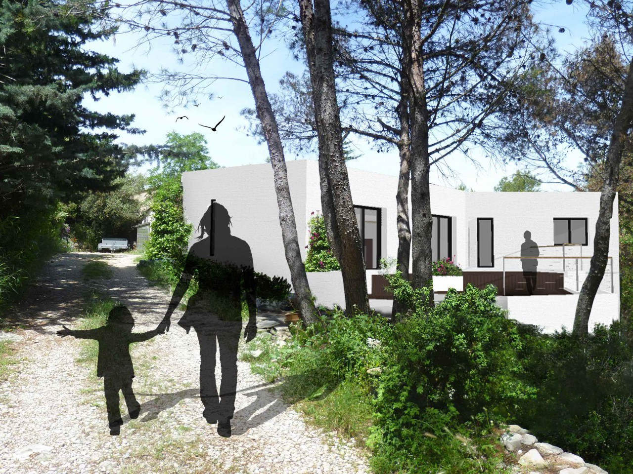 Reconstruction maison passive : agence d'Architecture Brayer-Hugon