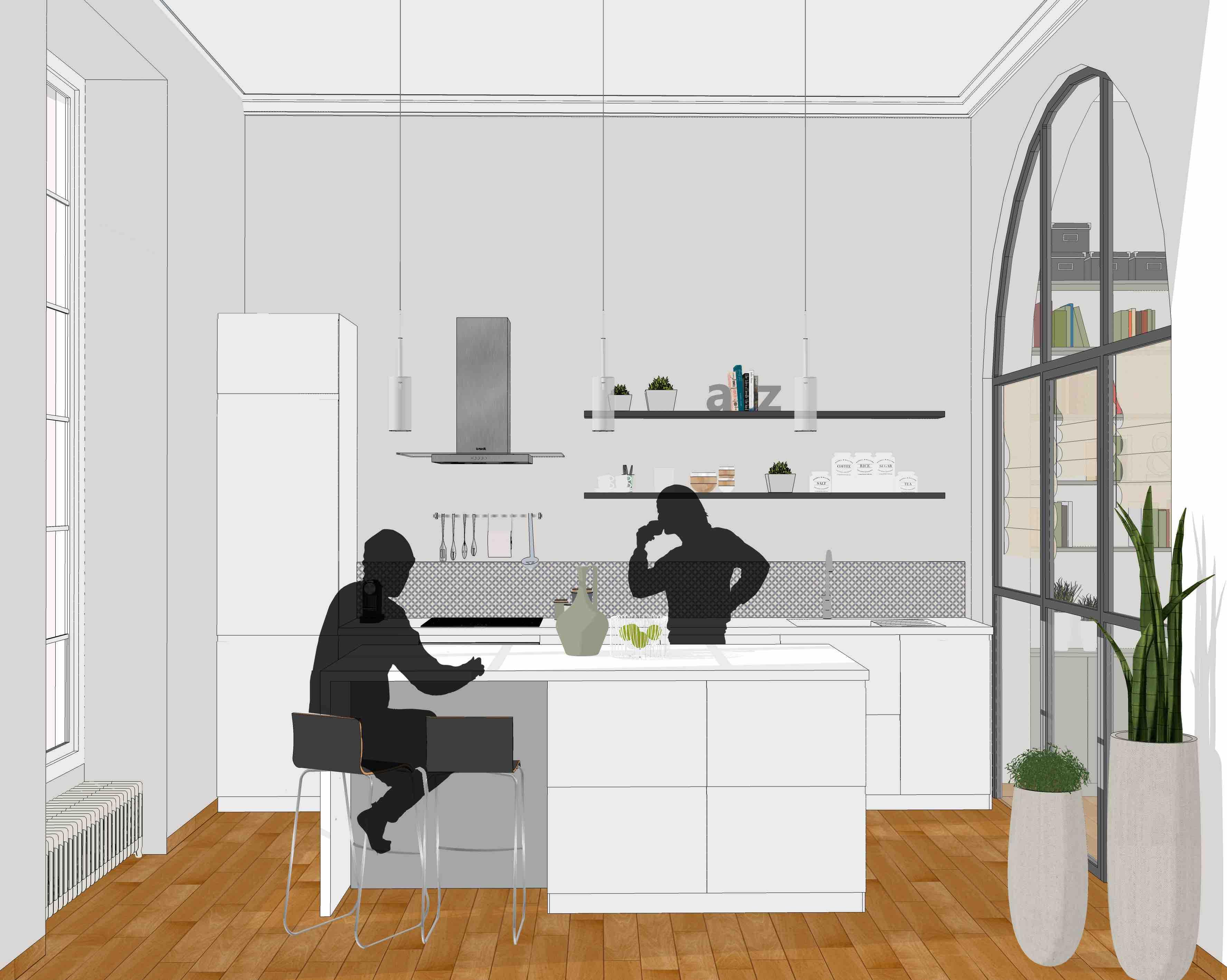 Appartement rénové par l'agence Architecture Brayer-Hugon en centre ville de Nîmes