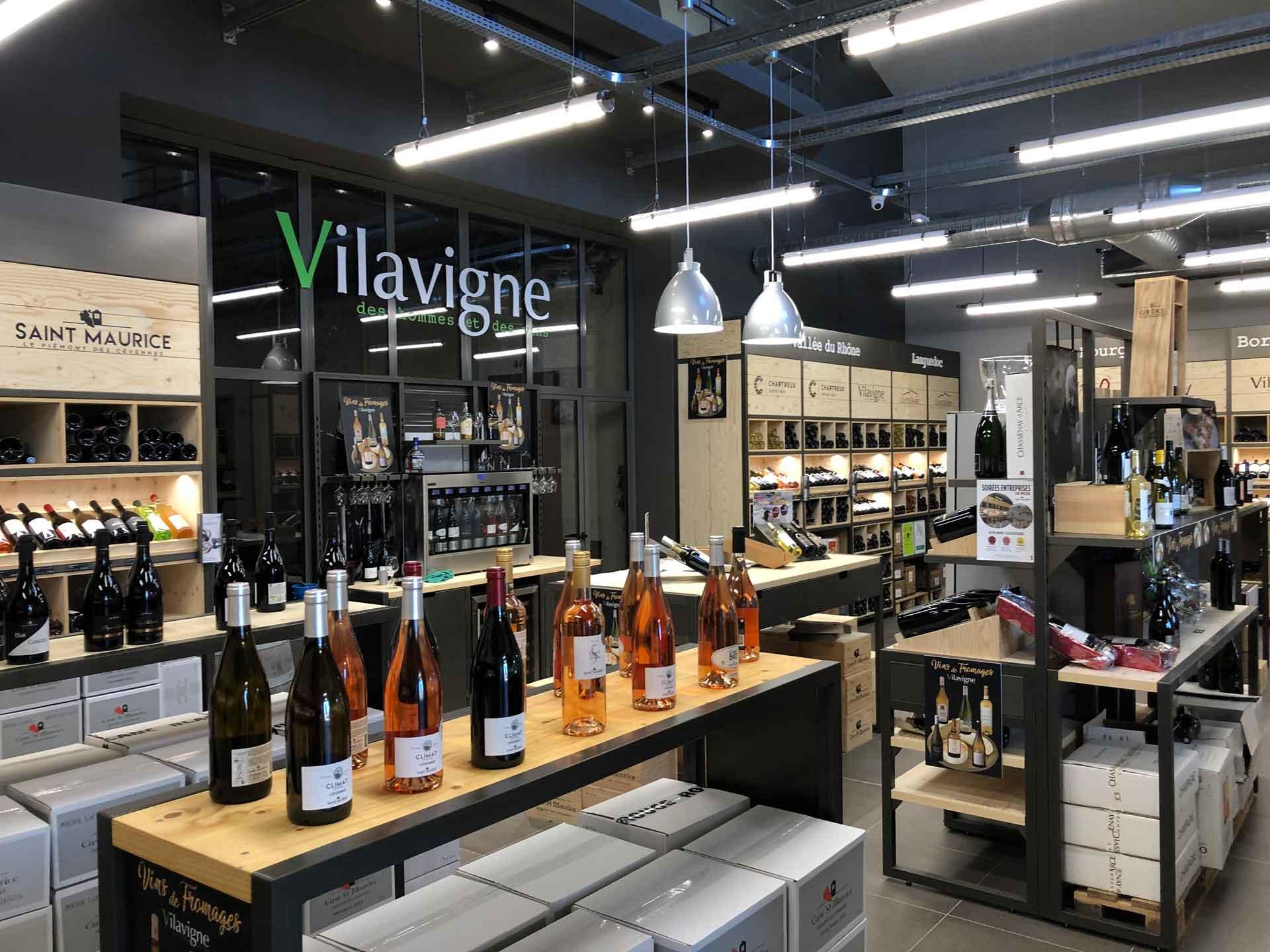 Rénovation de l'espace de vente Cave Vilavigne