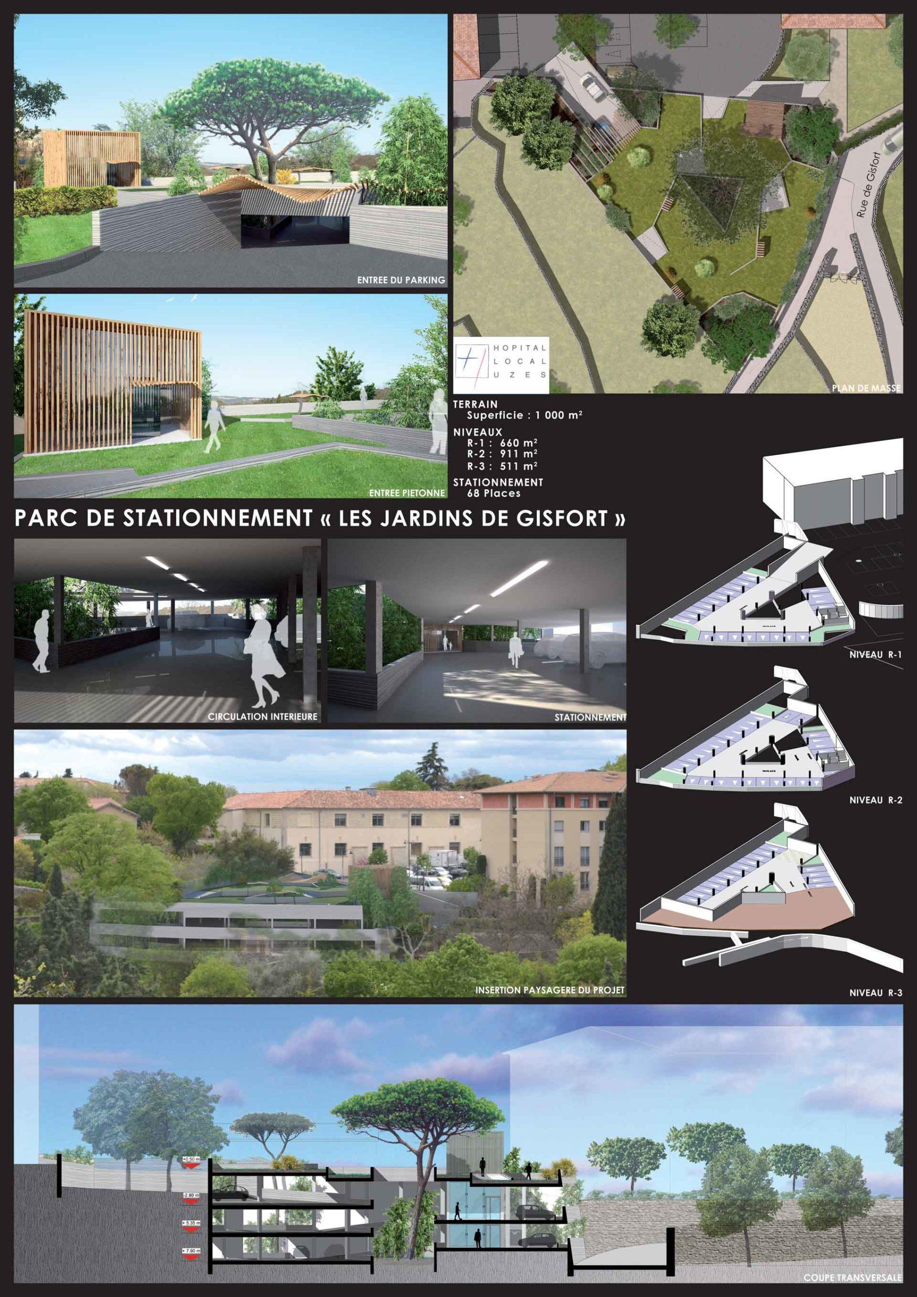 Parking Gisfort construction ABH à Nîmes
