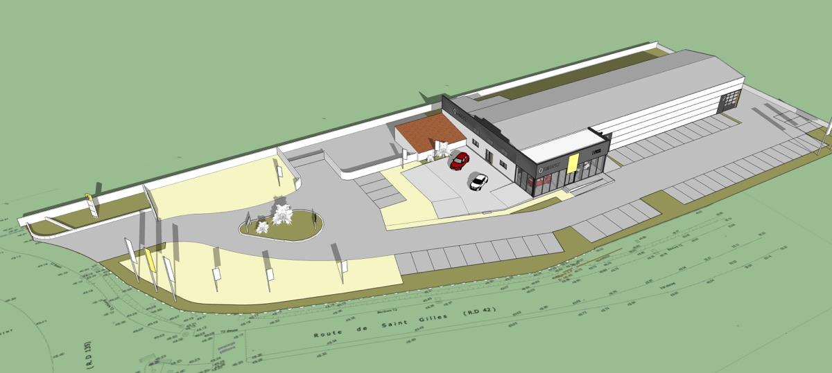 Vue-plan-architecte-nimes-ABH-agencement-magasin-renault